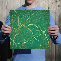 Map art print of Greenville, SC - Celebrate some of the best cities the in the world with fine art maps from City Prints. Illustrated in bold colors inspired by their city flags, these prints look like modern art but also represent the places you're most passionate about. City Prints are truly the perfect personalized gift.