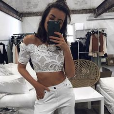 #AFTERPAYIT How freaking amazing is this  @thecon_nection wearing the new @asiliothelabel set  #AFTERPAYIT  #Lookbook #Asilio #asiliothelabel #weddinginspo #wedding #newarrivals #afterpayit #lookbook #afterpay #lace #crop #offshoulder#fashion #fashionblogger blogger #bloggerstyle #selfie #crop #whiteonwhite #fashionblogger #internationshipping #blogger #style #regram