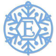 Silhouette Design Store - View Design #167956: snowflake monogram ornament - e