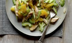 Celery recipes from Hugh Fearnley-Whittingstall: Celery, orange and mackerel salad; Celery Recipes, Soup Recipes, Salad Recipes, Healthy Recipes, Mackerel Salad, Hugh Fearnley Whittingstall, Smoked Fish, Smoked Trout, Celery Soup