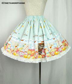 Pink Lemonade Mini Skirt /// 10,584円 /// length 45cm (16.8in) Waist 60cm(22.4in)-90cm(33.6in)