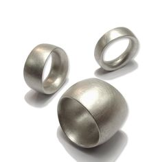 Erik Urbschat - Silver Unround Rings - ORRO Contemporary Jewellery Glasgow - www.orro.co.uk