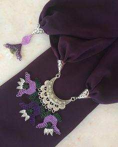 💜💜💜 Sipariş ve fiyat bilgisi için 👉🏻 dm lütfen. (Modellerimiz istenilen renklere uyarlanabilir.) ~•~•~•~•~•~•~•~•~ #annelergünü #hediyelik… Tatting, Elsa, Crochet Necklace, Embroidery, Jewelry, Instagram, Needlepoint, Jewlery, Jewerly