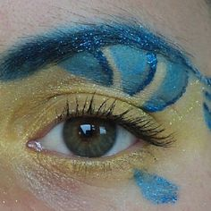 Flounder makeup from the little mermaid