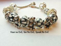 3 Monkeys See.speak.hear no evil . Starting at $5 on Tophatter.com!    Euro Bracelet Supplies No.84 April 3, 8pm EDT