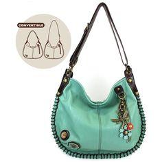 a0beb1b22259 Chala Charming Convertible Hobo/xbody Bag - Teal Dragonfly Small Crossbody  Bag, Leather Crossbody