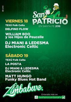 18 y 19 Marzo Santa Fe - Musicales San Patricio 2016 | Region Litoral