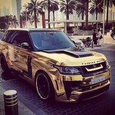 Golden range rover sport! The best family suv...