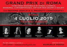 #danza  #dance  #weekendinpalcoscenico  #ilportale da 04/07/2015 a 04/07/2015 GRAND PRIX DI ROMA - CONCORSO NAZIONALE DI DANZA LUOGO: TEATRO GRECO - VIA LEONCAVALLO REGIONE: Lazio PROVINCIA: Roma CITTA': ROMA http://www.weekendinpalcoscenico.it/portale-danza/doc.asp?pr1_cod=4802#.VS50yvmsXGU