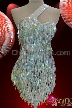 Two-Piece Crystal Embellished White Teardrop Sequin Beaded Belly Dance Dress Sequin Crafts, Latin Dance Dresses, Prom Dresses, Wedding Dresses, Ballroom Dress, Dance Costumes, Royal Costumes, Dance Outfits, Ladies Dress Design
