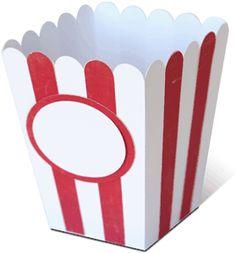 Silhouette Design Store - View Design #28397: popcorn box