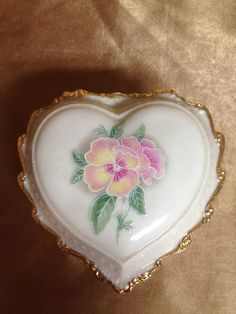 "Heritage House ""Celebration of Love"" Heart Shaped Musical Trinket Box"