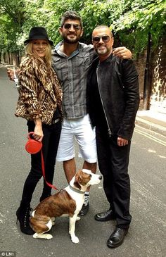 Fadi is pictured with George Michael and Kate Moss back in 2012...