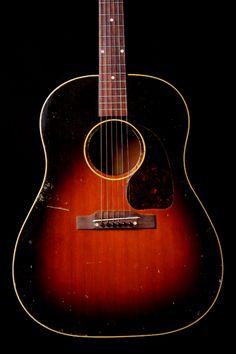 Vintage Gibson 1950's J-45 Sunburst Acoustic Guitar