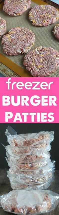 Meal Prep: Freezer Burger Patties