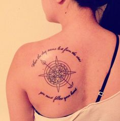 """My first tattoo and I am in love with it. """"When the day seems lost from the stars you must follow your heart."""" -City and Colour"""