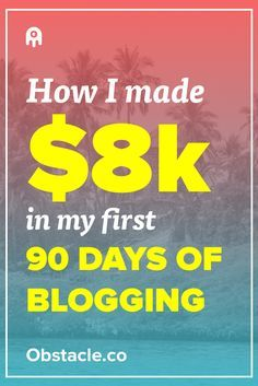 Yo! Over $8,000 in 90 days for a blog is pretty good! Here is how I was able to make money with my blog in just 90 days. Making money with your blog doesn't require expert status, it just requires understanding your audience.