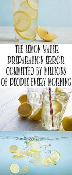 Lemon Water In The Morning!!