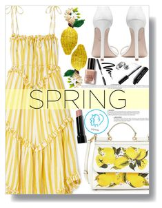 """March Horoscope: Spring Dresses (Gemini)"" by sc-styles ❤ liked on Polyvore featuring Zimmermann, Mercedes Salazar, Bobbi Brown Cosmetics, Dolce&Gabbana and Stuart Weitzman"