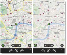 Cambios en la presentación de mapas en Nokia Maps