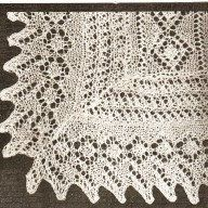 Vintage Downton Abbey era lace baby shawl knitting pattern -christening shawl-pdf email delivery