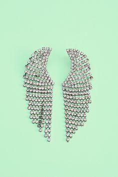 Nasty Gal crystal wing earrings plus more pretty pairs under $ 50