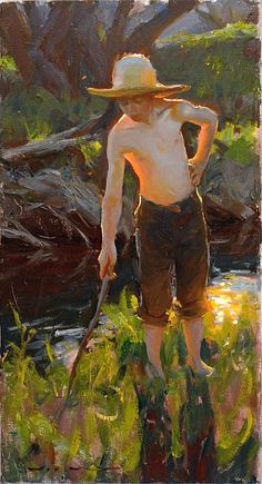 """""""Warm Summer Days"""" - [Mike Malm] - """"Looking at the quiet flowing stream rather than at the intrusive telephone screen"""""""