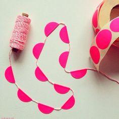 sticky dots garland