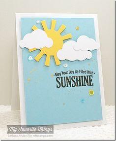 Blue Skies Ahead, Cloud Cover-Up Die-namics, Sun Moon and Stars Die-namics - Barbara Anders #mftstamps