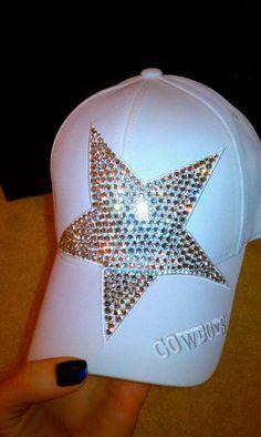 Dallas Cowboys Swarovski Hat by SassySportswear on Etsy. Dallas Cowboys Gear, Cowboys 4, Football Gear, Cowboy Love, Cowboy Gear, How Bout Them Cowboys, Nfl, Cowboy Outfits, Up Girl