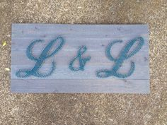 Items similar to Initial String Art on Etsy Camper Ideas, String Art, Initials, Palette, Rugs, Unique Jewelry, Wood, Handmade Gifts, Diy
