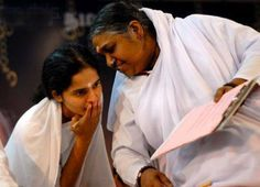 Faith in the Guru and his words protect us like a mother...Amma