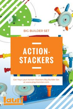 Lauri's Action-Stackers Big Builder Set is the perfect STEM engineering toy for your preschooler or toddler, with new connectors that allow children to build in new directions, and wheels that allow movement; this set is both fun and educational! Shop Lauri Action-Stackers today! Engineering Toys, Classic Toys, Fun Learning, Educational Toys, The Fosters, Gift Guide, Growing Up, Preschool, Wheels