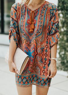 Printed Shift Dress | LivvyLand
