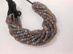 """9"""" Genuine Labradorite Rondelle Smooth Blue Flash Gemstone Beads 5.5mm  #GemstoneTopper #Smooth#Blue Flash Labradorite #Labradorite #hand crafted # Natural Gemstone # Fine Beads"""