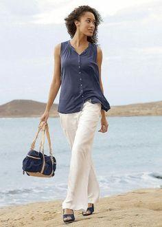 Linen Pants Outfit, Khaki Pants, Capri Pants, Spring Summer, Outfits, Fashion, Moda, Khakis, Capri Trousers