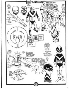 Cartoon Character Model Sheets | Cartoon Concept Design: Alex Toth Model Sheets -- Space Ghost