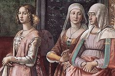 Nacimiento de san Juan Bautista, retrato de Lucrezia Tornabuoni, Ghirlandaio