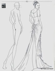 fashion croquis how to draw . fashion croquis front and back Illustration Tutorial, Fashion Illustration Template, Fashion Sketch Template, Fashion Figure Templates, Fashion Model Sketch, Fashion Design Template, Illustration Mode, Fashion Sketches, Design Templates