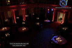 The Rowan Museum  Salisbury, NC Red uplighting around perimeter