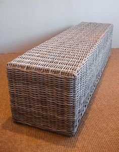 Bleached Taupe Rattan Bench - Mecox Gardens. 71--18--18h