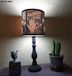 The perfect lamp shade to light up your movie nights or your halloween party!  Height: 7,01 (18 cm) Diameter: 7.01 (18 cm)  Its a special project for the facebook page  Everyday Is Halloween For Us: A bunch of crafters who love Halloween are going to make a series of 5 special Halloween items released every saturday of October with a special treat on October 31st! Like us on facebook to be updated: https://www.facebook.com/pages/Everyday-is-Halloween-for-Us/5411551459...