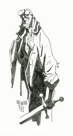 Image detail for -Hellboy by Mike Mignola, in the November 2003: Hellboy Comic Art ...