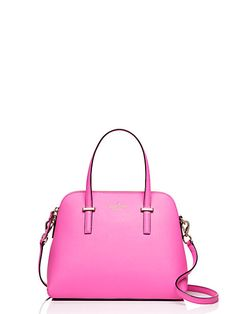 kate spade new york 'cedar street - maise' satchel at Nordstrom.com. Lavish crosshatched leather composes a tidy satchel shaped with an elegantly arcing silhouette. An optional strap adjusts to the perfect length for crossbody convenience.