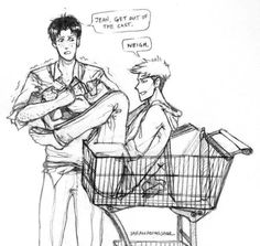 I don't blame Jean, I wouldn't get out of the cart either