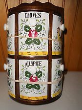 rooster and roses | Rooster and Roses by PY Half Moon Spice Rack with 6 Wedge Bottles ...
