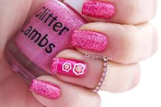 Pink Christmas Sugar Cookie: Christmas Glitter Topper Nail Polish
