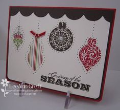Holiday ornaments pierced dsp  Ornament Keepsakes Stampin Up