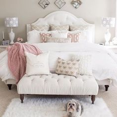 What a dreamy space this is most def some serious #bedroomgoals @kimkhazel is so talented and has one cute little pup go check out the rest of her home, it is incredible  . . . #Decorsteals #decorstealsaddict #vintageinspired #vintagefarmhouse #farmhouseliving #farmhousedecor #farmhouse #rusticfarmhouse #countryhome #countryliving #design #home #goals #houzz #diy #style #furniture #dreamhome  #modernfarmhouse #interiordesign #decor #decorating #homedecor #hgtv #lovehgtv #bedroomlove #...