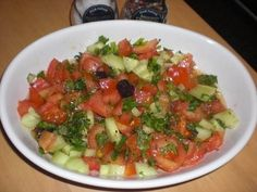 Turkse salade komkommer tomaat